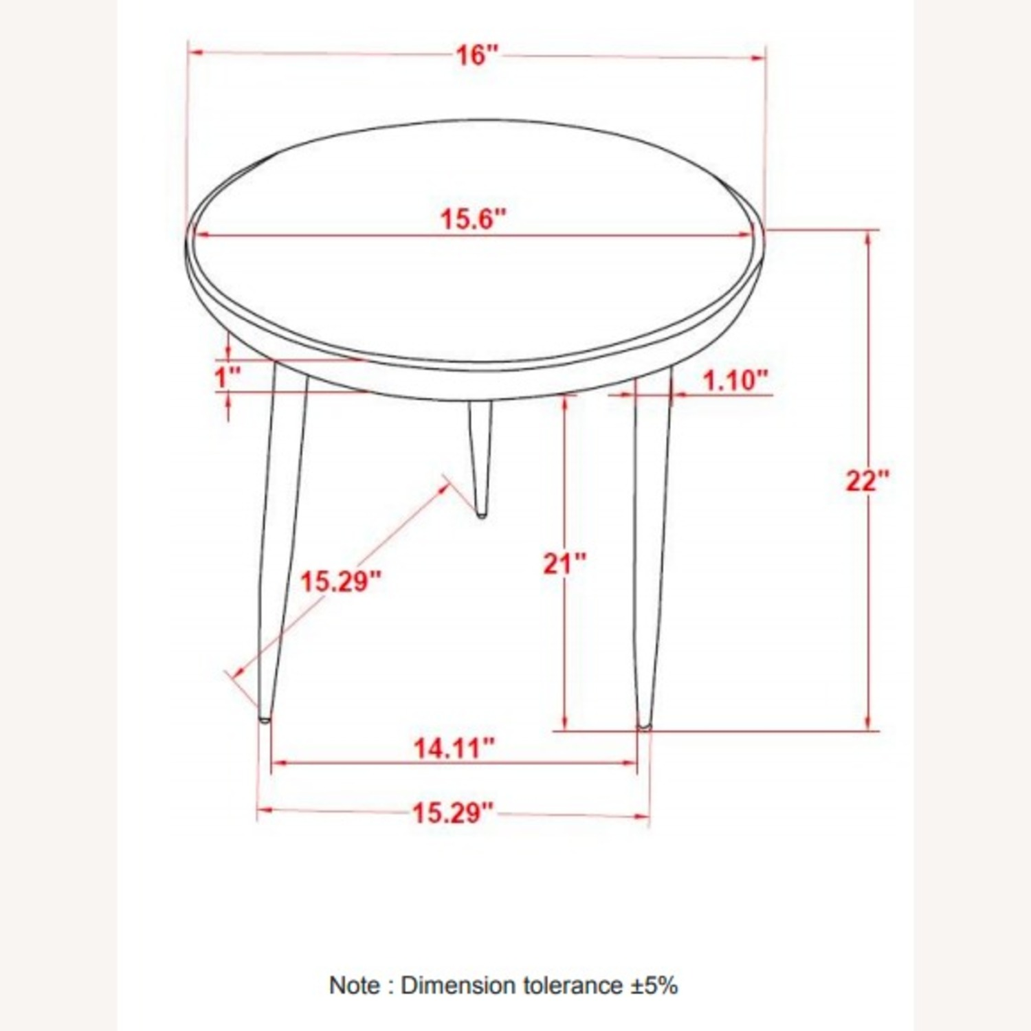 Accent Table In White Marble Top & Gold Finish - image-3