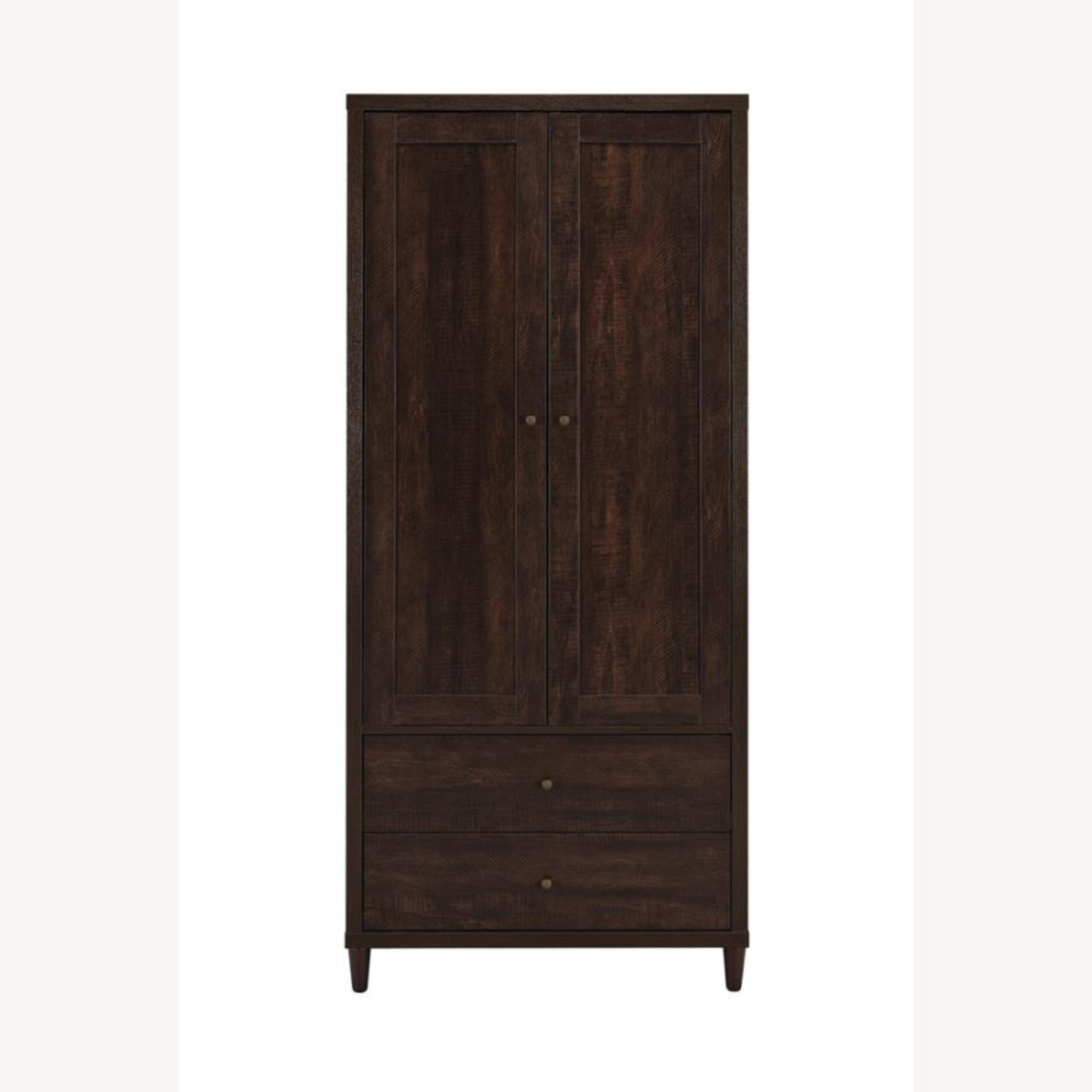 Accent Cabinet In Rich Rustic Tobacco Finish - image-1