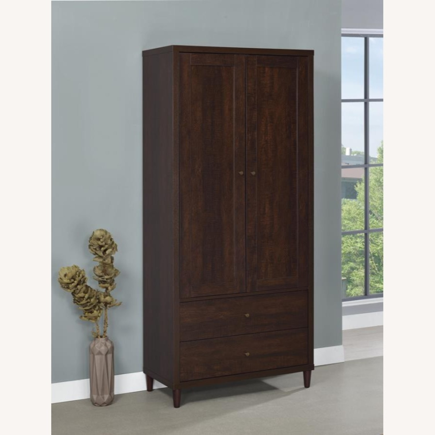 Accent Cabinet In Rich Rustic Tobacco Finish - image-6