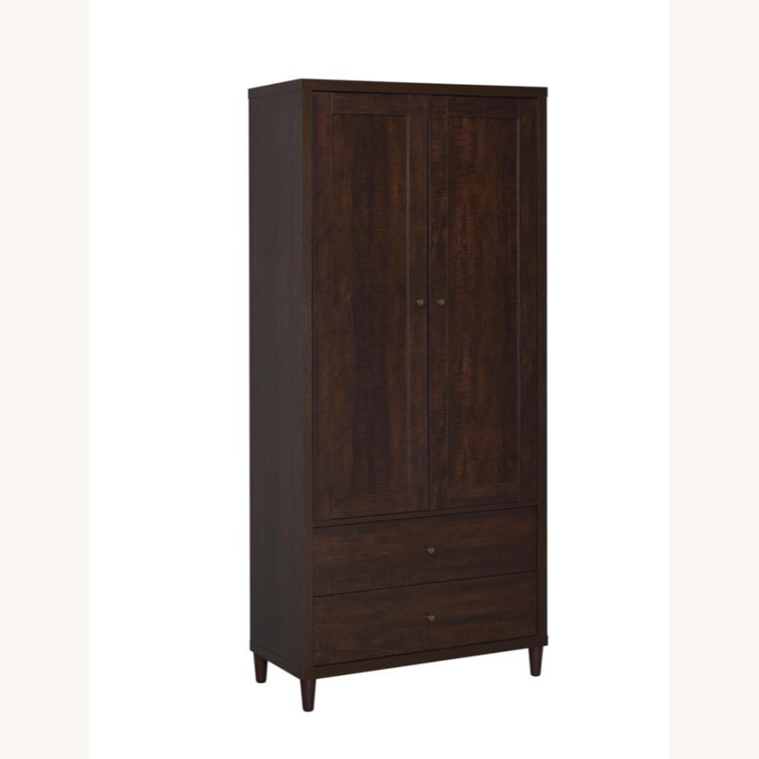 Accent Cabinet In Rich Rustic Tobacco Finish - image-0