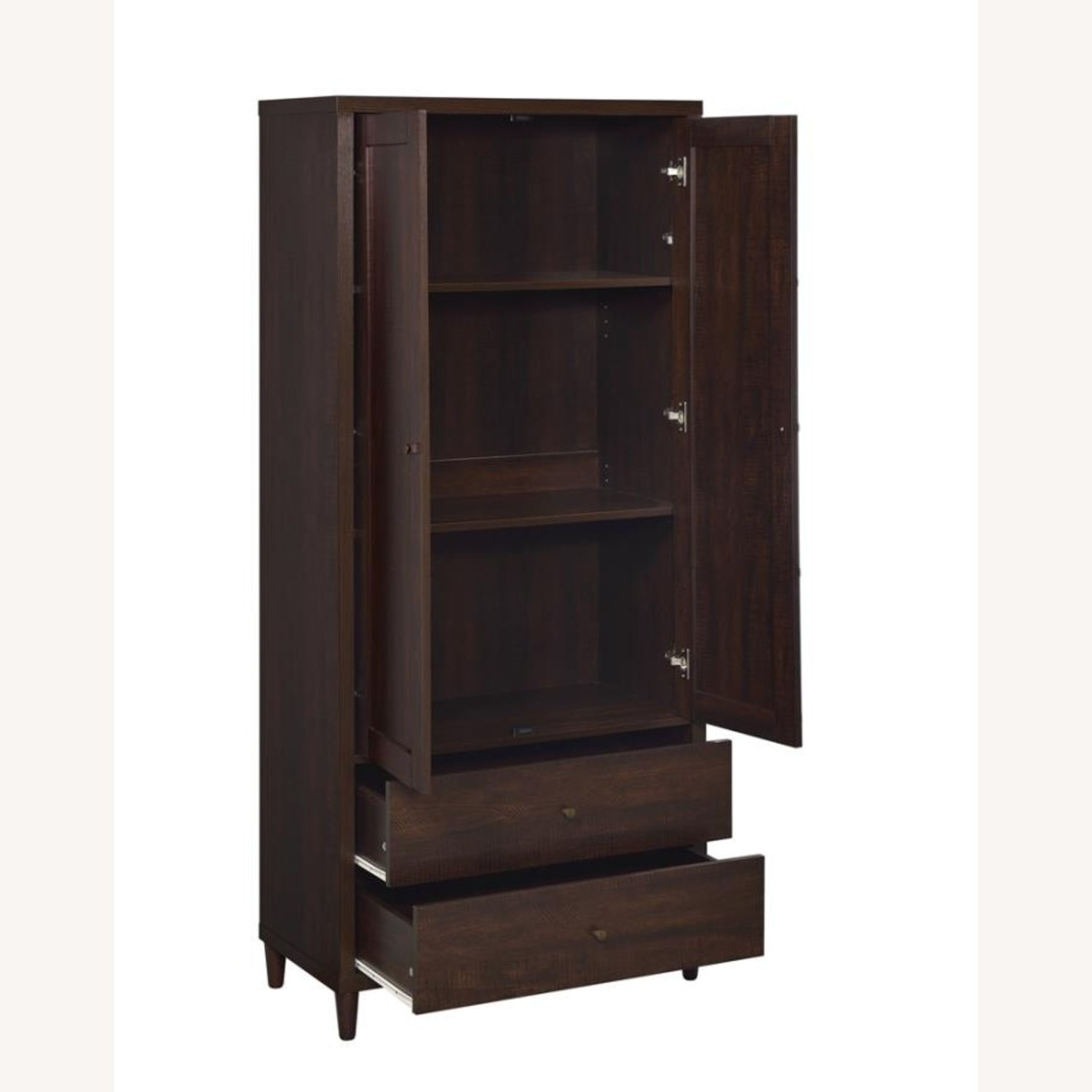 Accent Cabinet In Rich Rustic Tobacco Finish - image-2