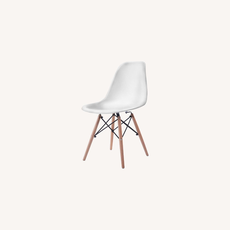Mid Century Modern Dining Chair Wood Leg - image-0
