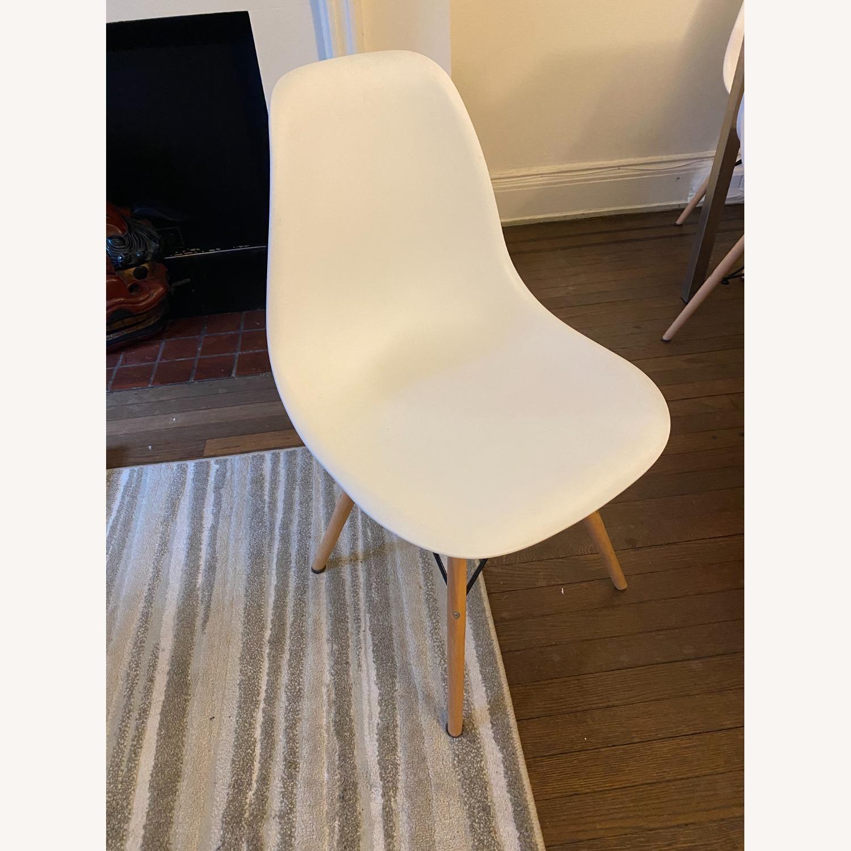 Mid Century Modern Dining Chair Wood Leg - image-1