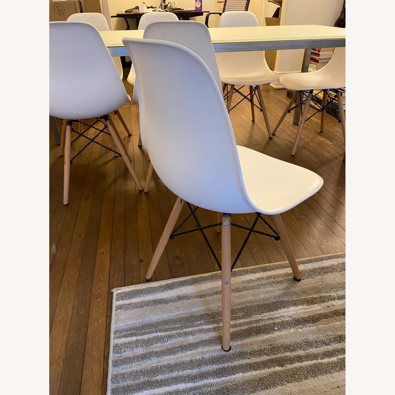 Mid Century Modern Dining Chair Wood Leg - image-3