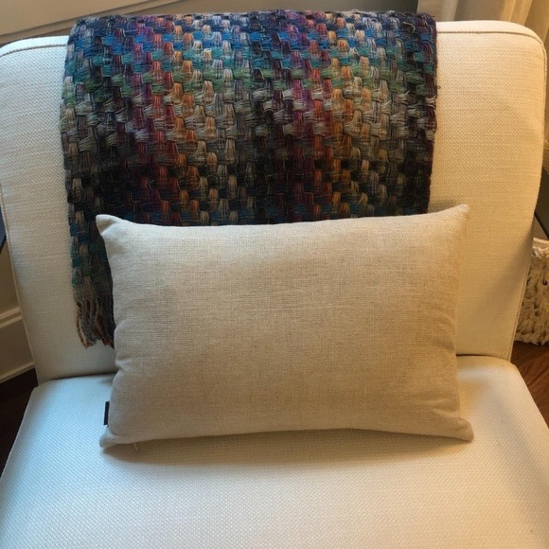 Ankasa Natural Linen & Gold Decorative Pillow - image-3