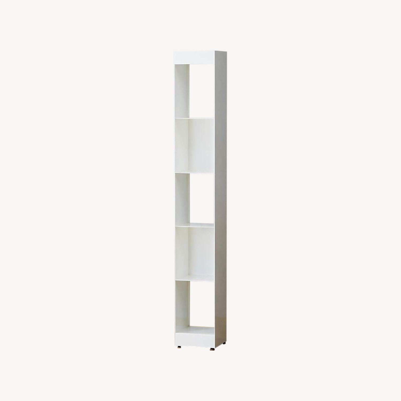 CB2 White Metal Bookcases Modern - image-0