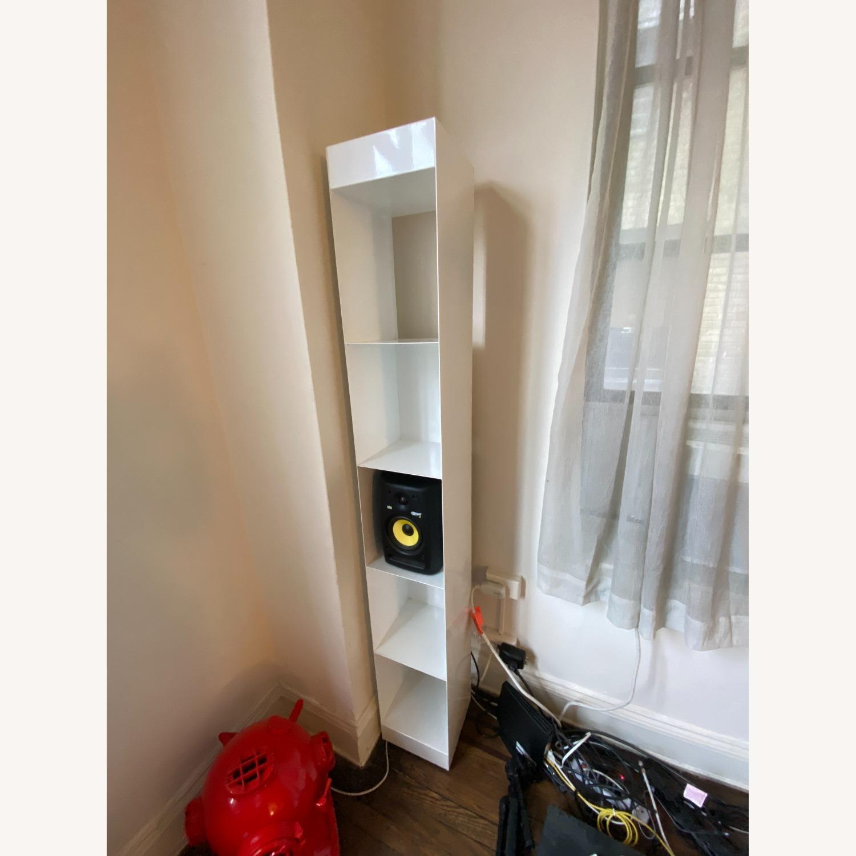 CB2 White Metal Bookcases Modern - image-1