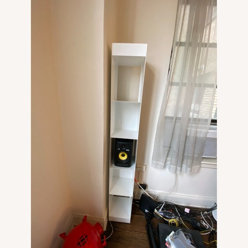 Used CB2 White Metal Bookcases Modern for sale on AptDeco