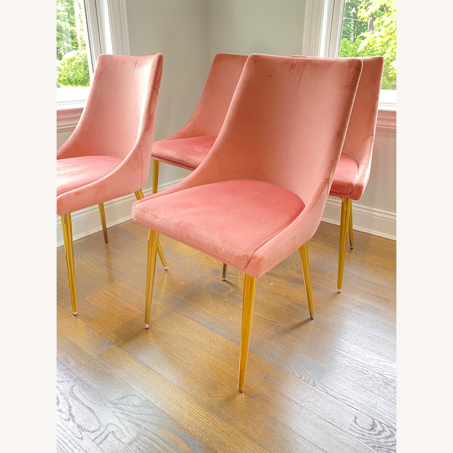 Modway Midcentury Velvet Dining Chairs Dusty Rose - image-1