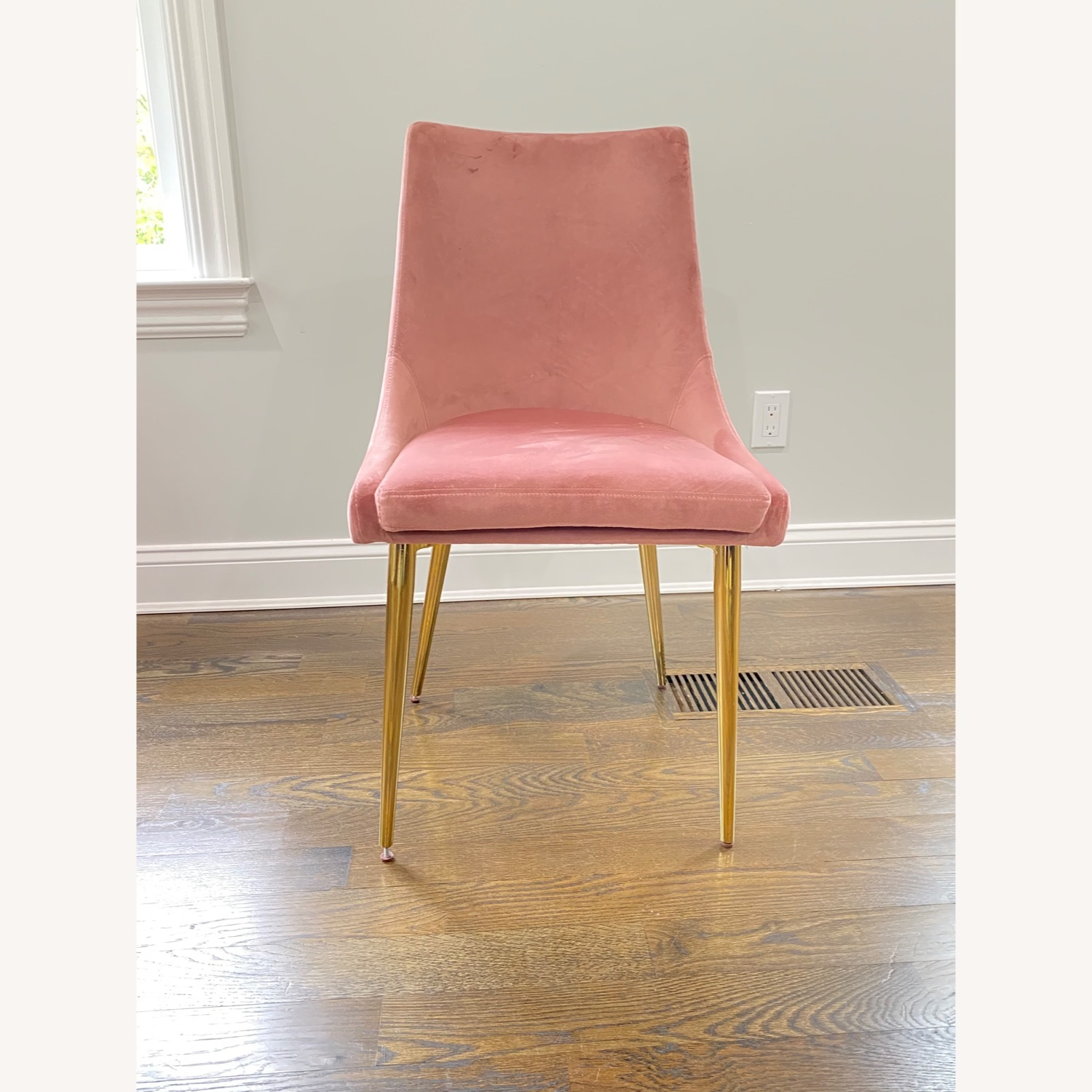 Modway Midcentury Velvet Dining Chairs Dusty Rose - image-3