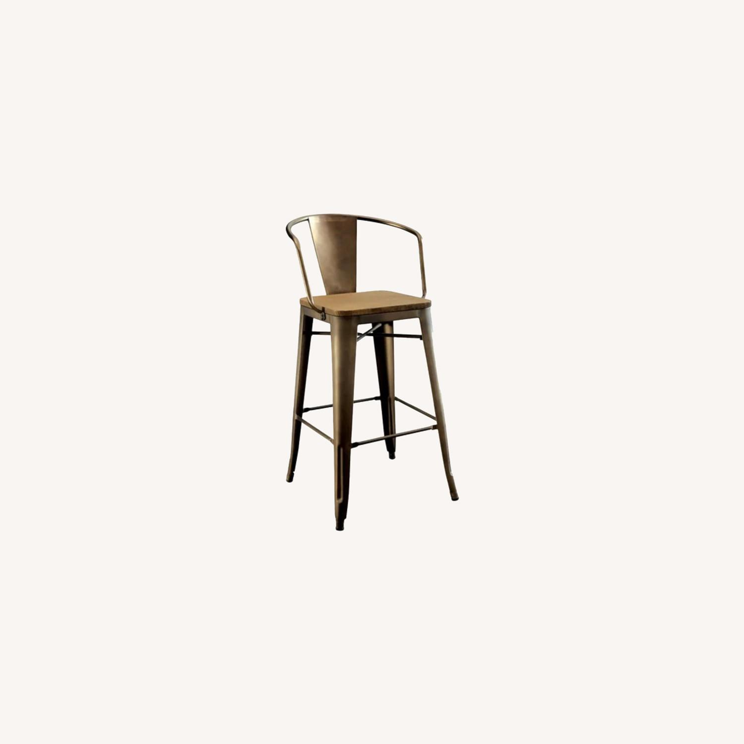 Wayfair Set of two Industrial Counter Stools - image-0