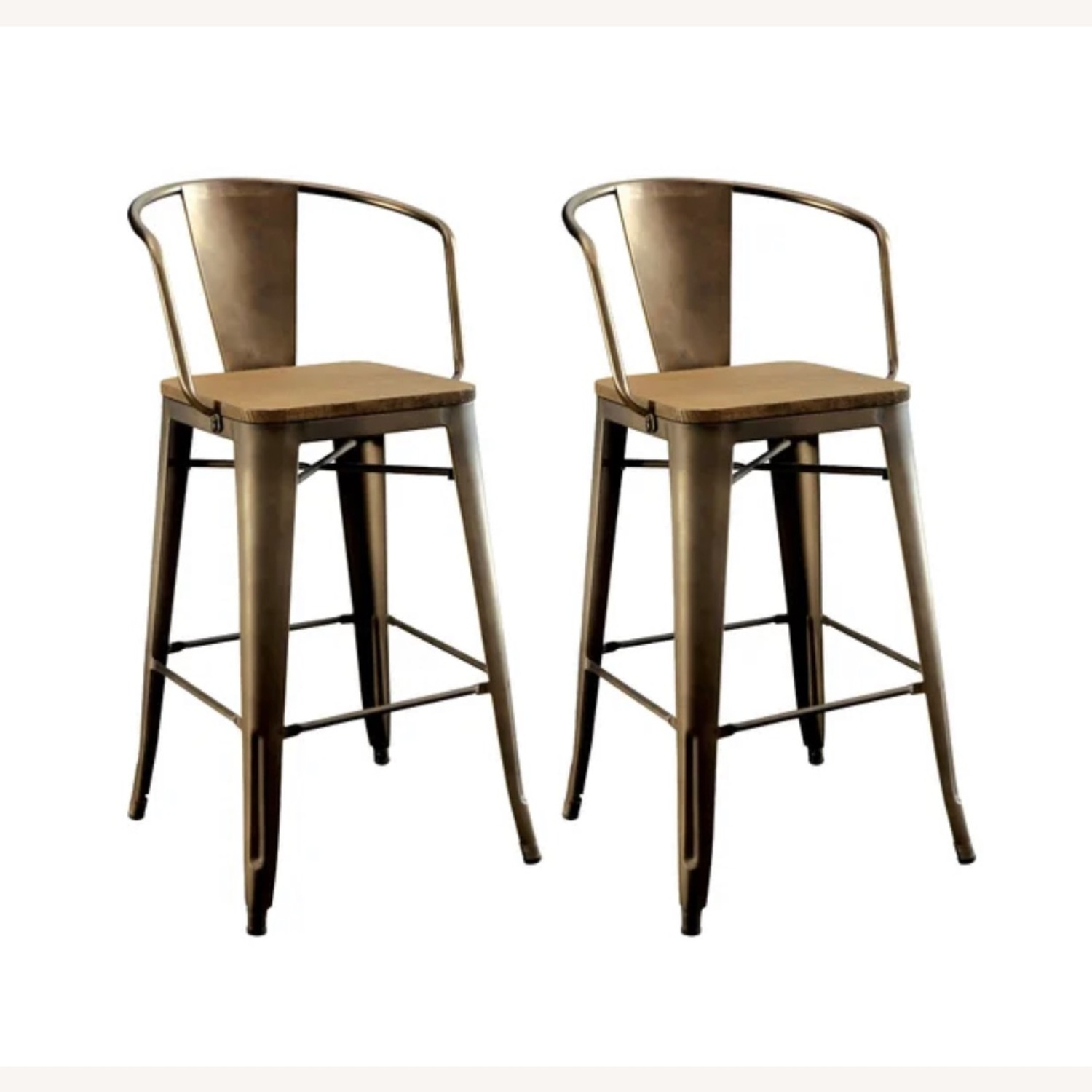 Wayfair Set of two Industrial Counter Stools - image-2