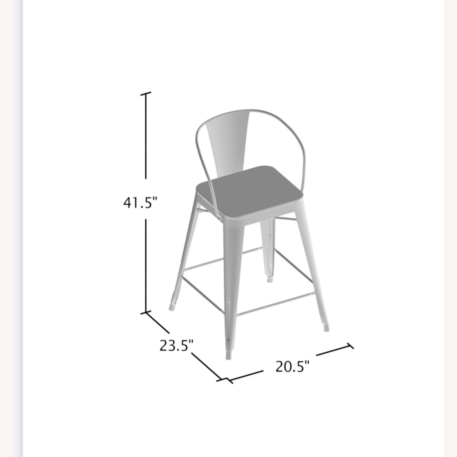 Wayfair Set of two Industrial Counter Stools - image-5