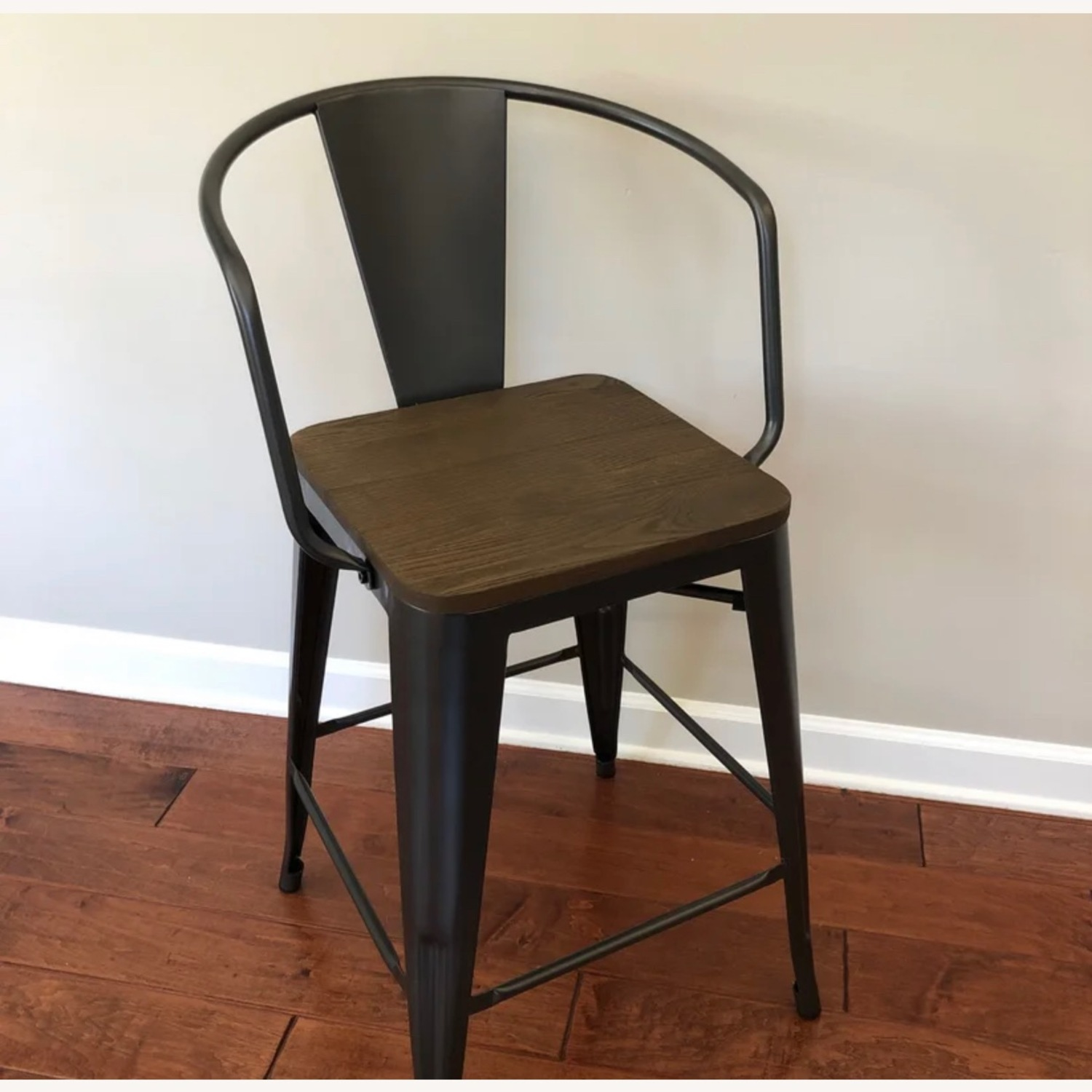 Wayfair Set of two Industrial Counter Stools - image-1