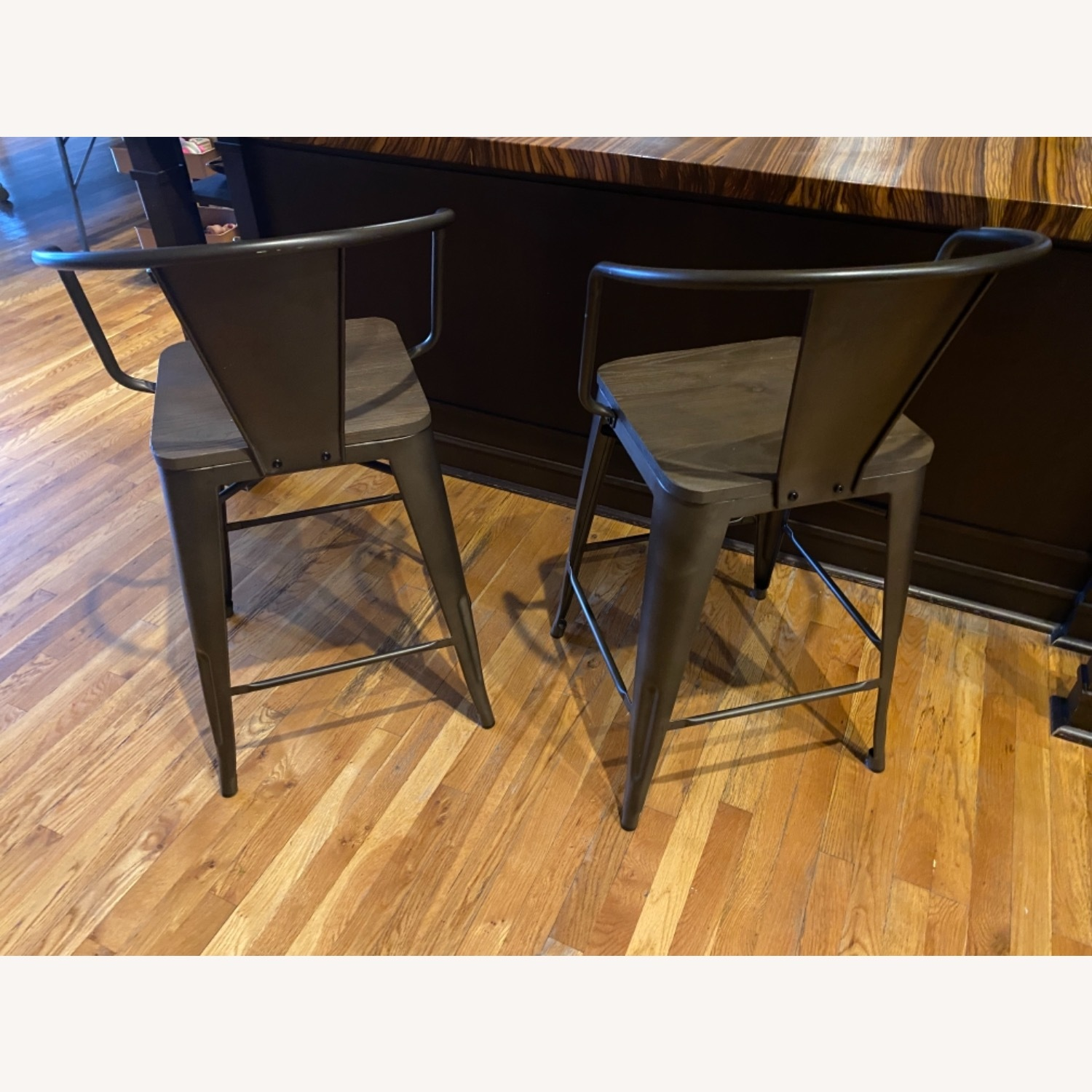 Wayfair Set of two Industrial Counter Stools - image-3