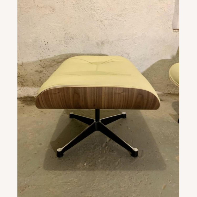 Replica Eames Lounge Chair + Ottoman Cream Leather - image-7