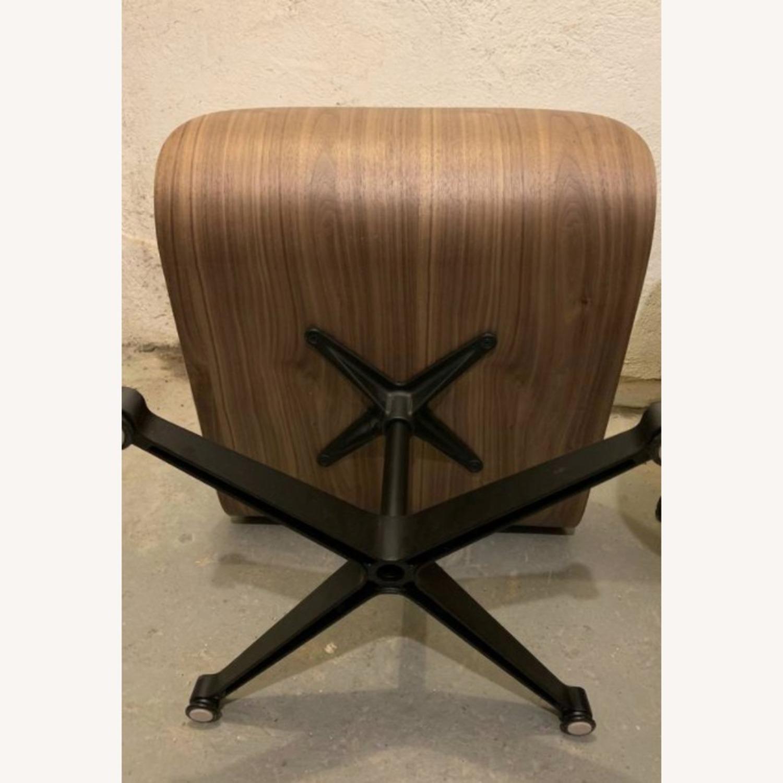 Replica Eames Lounge Chair + Ottoman Cream Leather - image-5