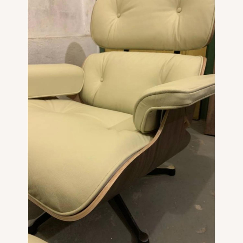 Replica Eames Lounge Chair + Ottoman Cream Leather - image-3