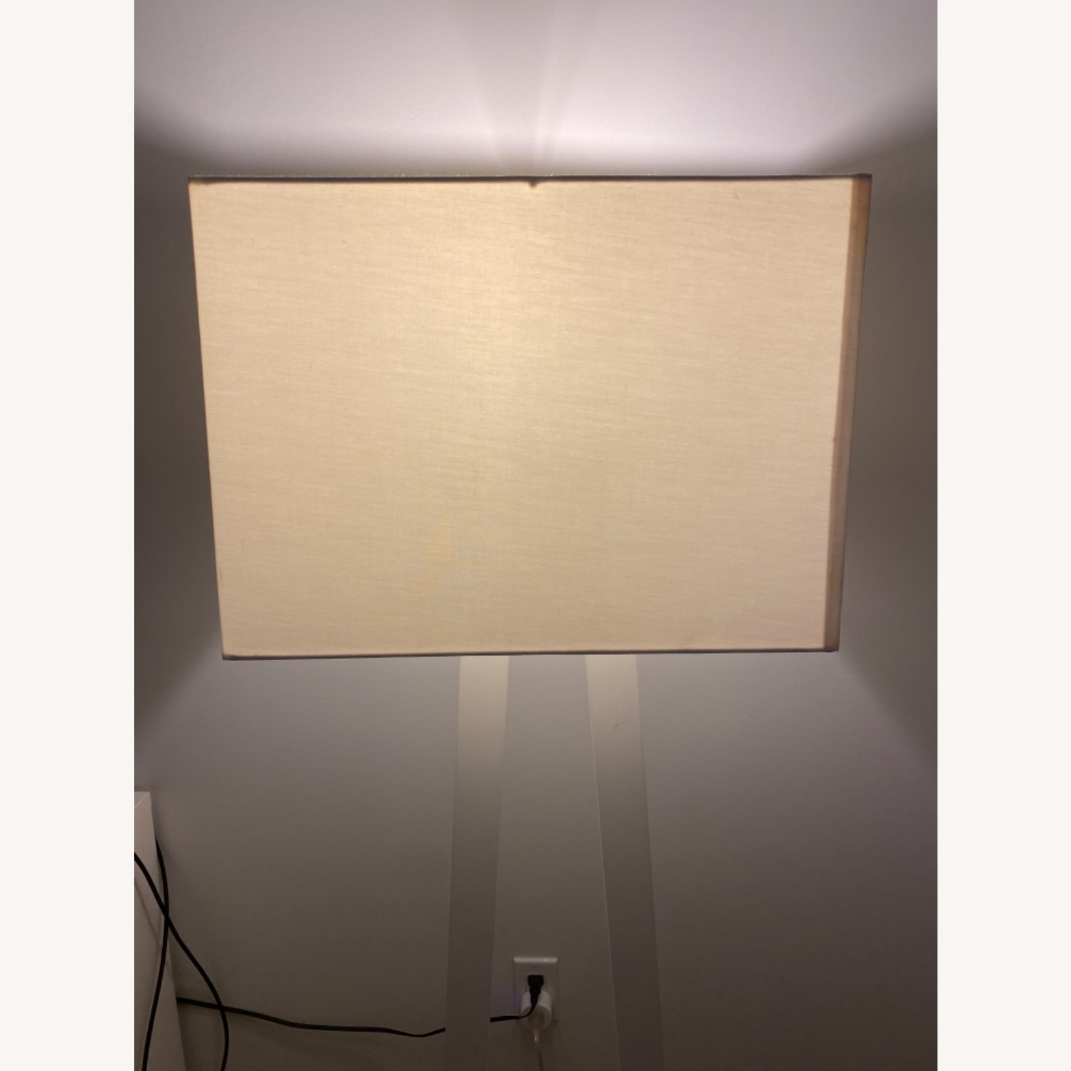 West Elm White Standing Lamp - image-3