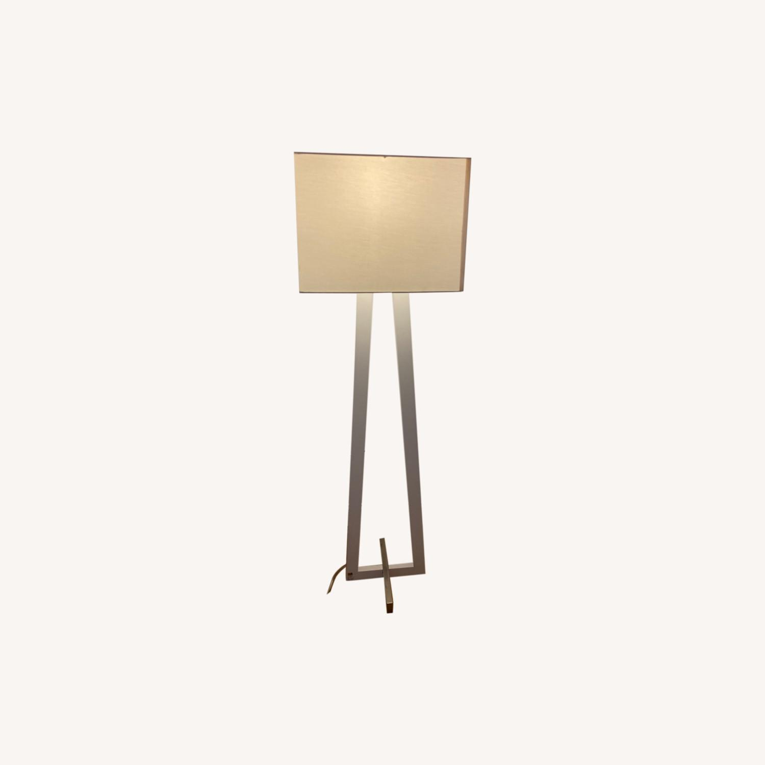 West Elm White Standing Lamp - image-0