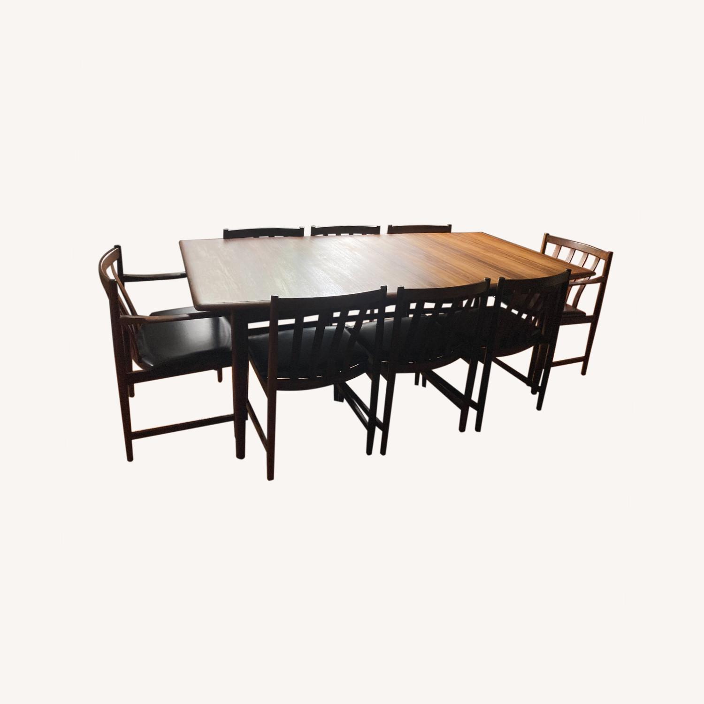 Danish Mid-Century Rosewood Dining Suite - image-0
