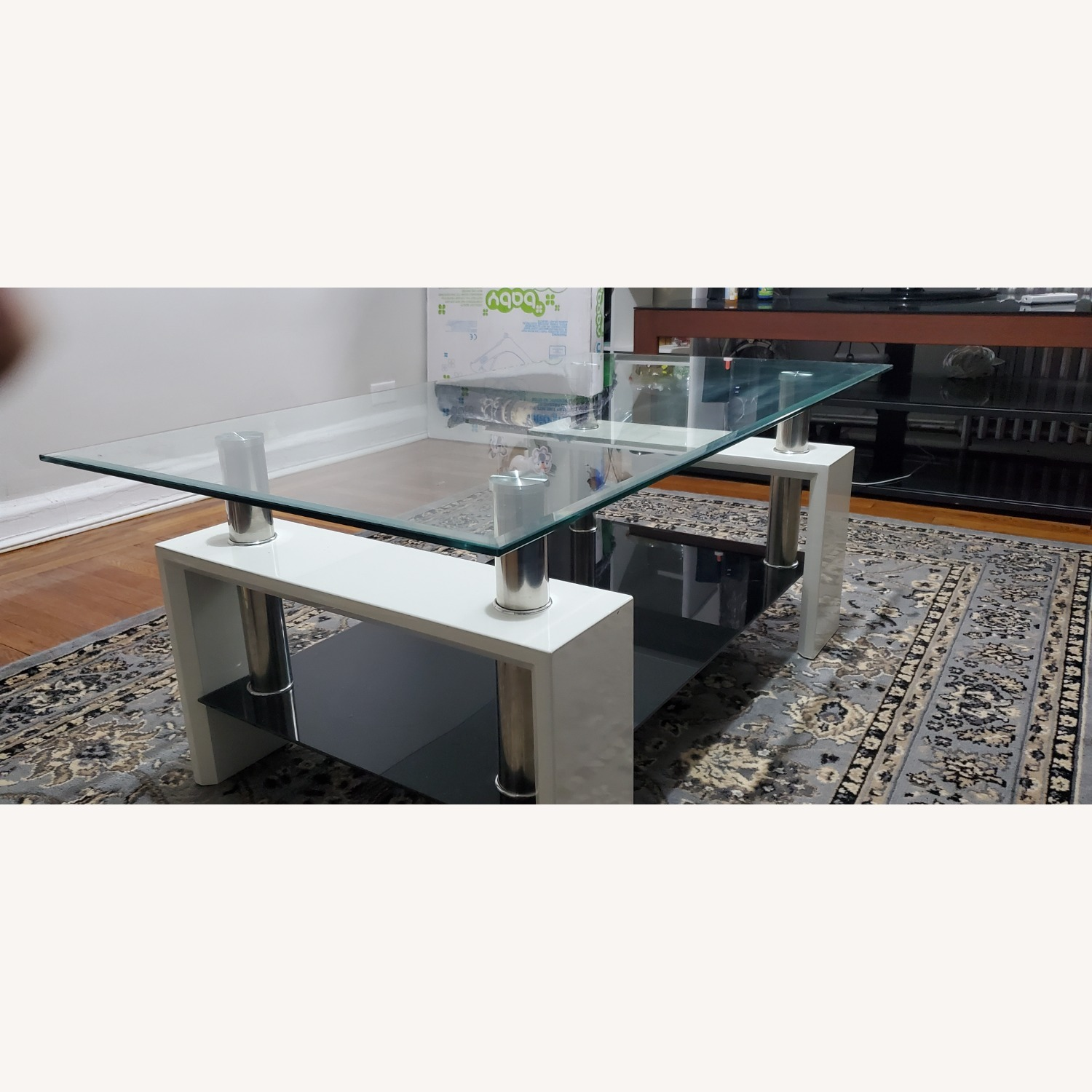 Black and White Coffee Table - image-1