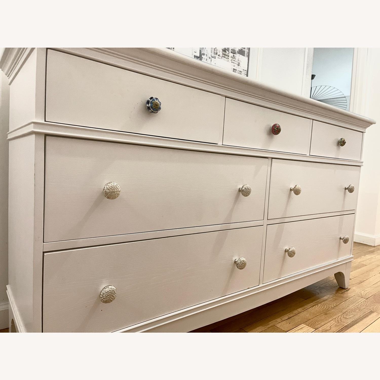 White Dresser with Unique Knobs - image-3