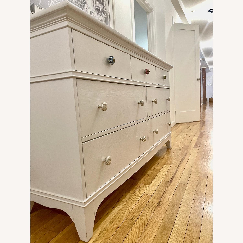 White Dresser with Unique Knobs - image-4