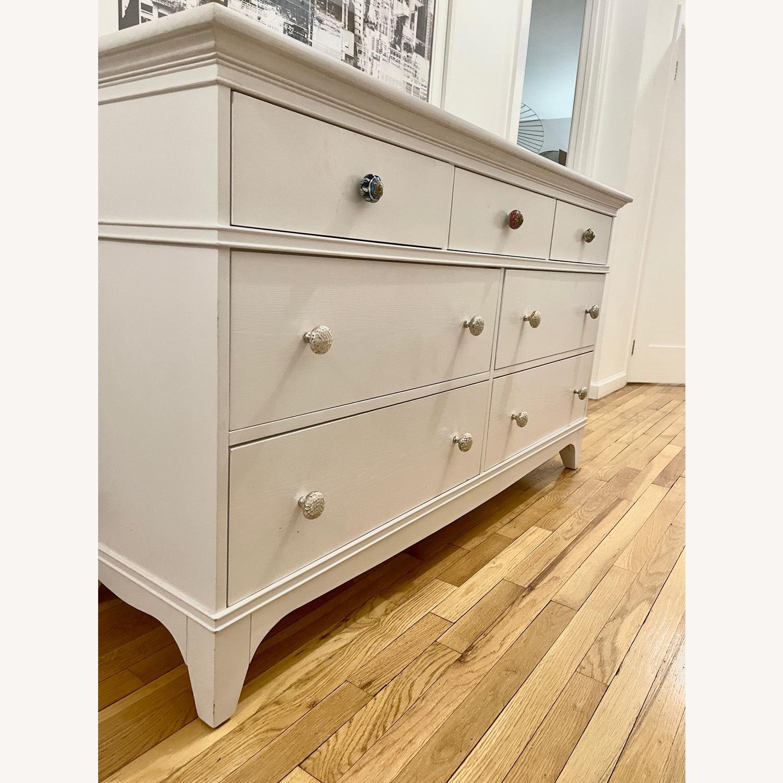 White Dresser with Unique Knobs - image-7