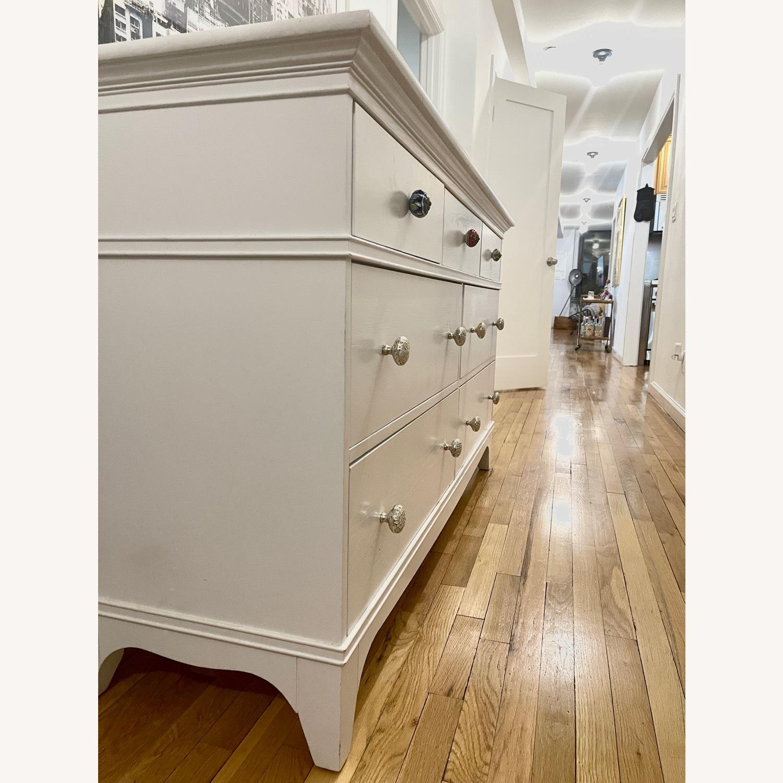 White Dresser with Unique Knobs - image-2