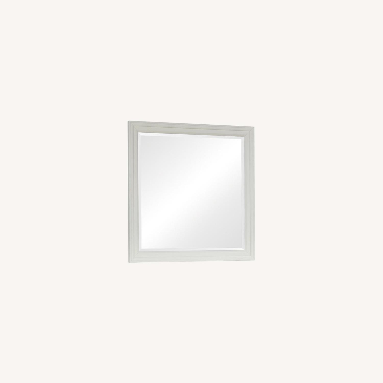 Mirror In White Poplar Veneer Frame Finish - image-5
