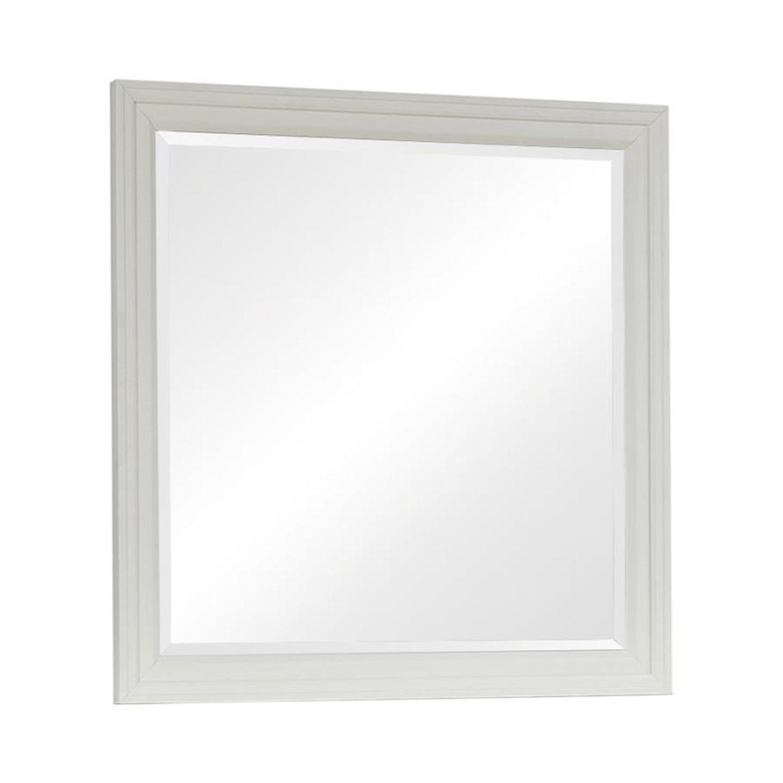 Mirror In White Poplar Veneer Frame Finish - image-0