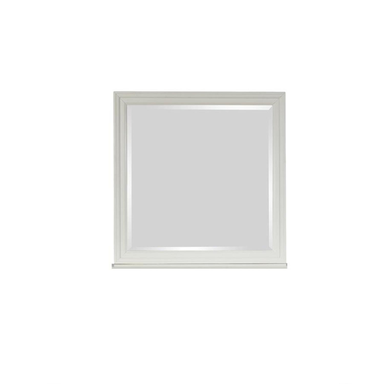 Mirror In White Poplar Veneer Frame Finish - image-1
