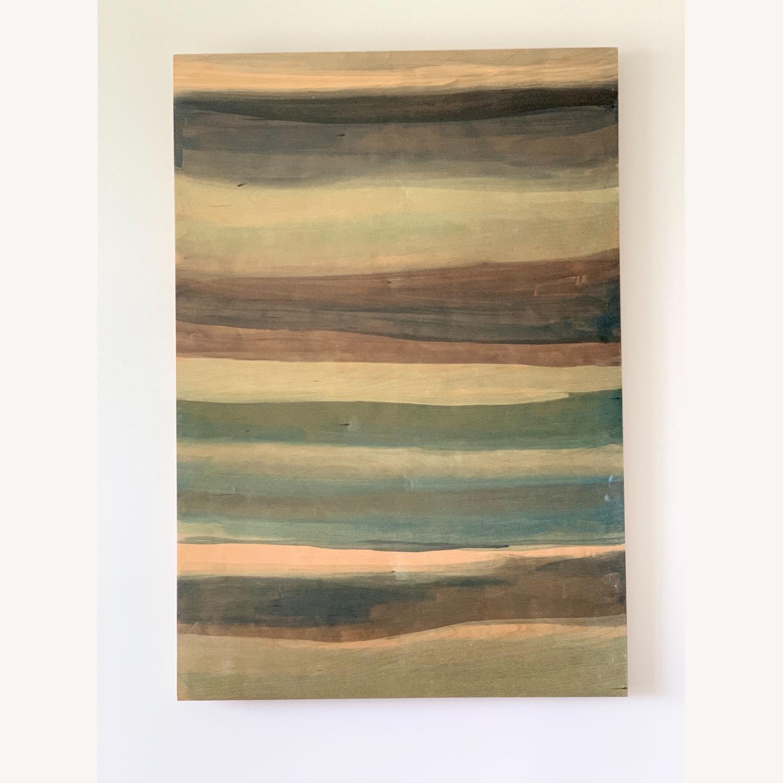 West Elm Large Birch Wood Wall Art Sarah Campbell - image-2