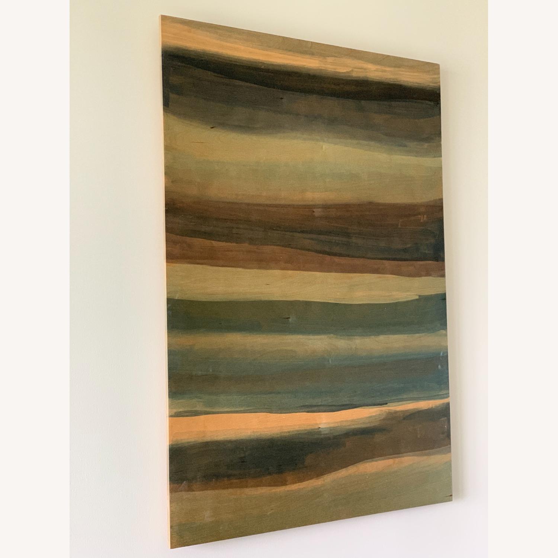 West Elm Large Birch Wood Wall Art Sarah Campbell - image-3