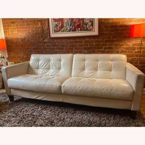 Used Chateau D'ax Milan Sofa in Pearl Leather for sale on AptDeco