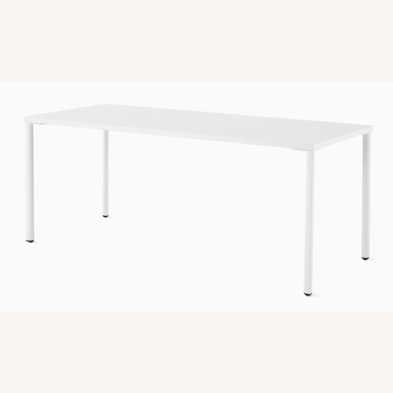 Herman Miller White OE1 Desk Table - image-2