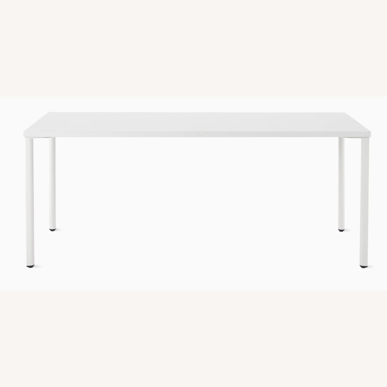 Herman Miller White OE1 Desk Table - image-1