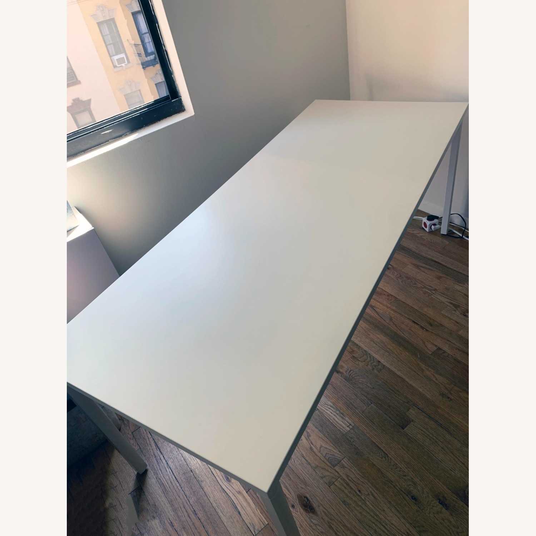 Herman Miller White OE1 Desk Table - image-0
