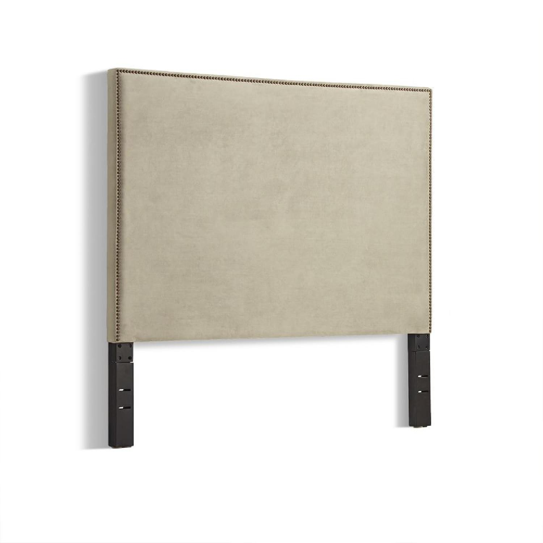 West Elm Nailhead Upholstered Headboard - image-4