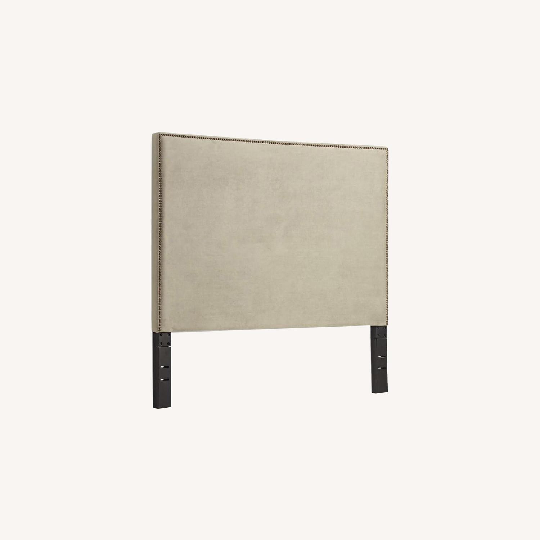 West Elm Nailhead Upholstered Headboard - image-5