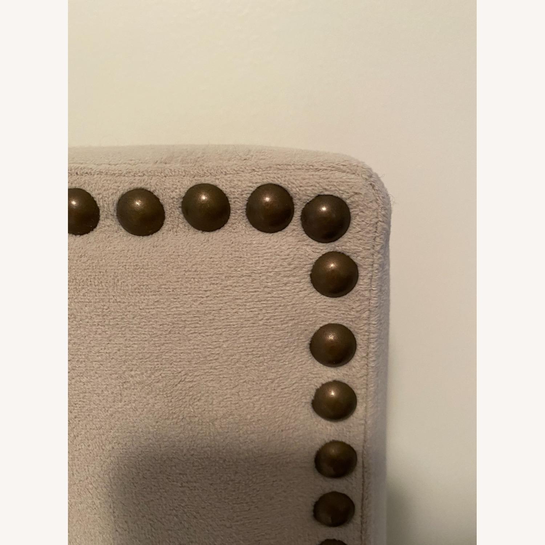 West Elm Nailhead Upholstered Headboard - image-3