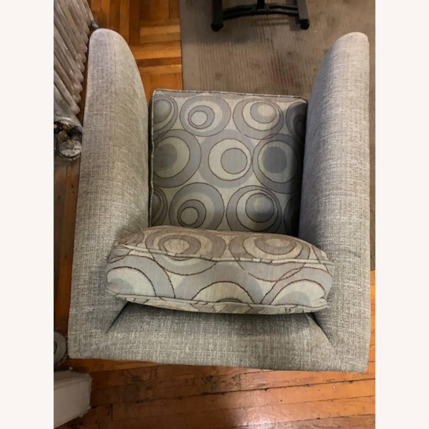 Thayer Coogin Swivel Chair Light Grey - image-9