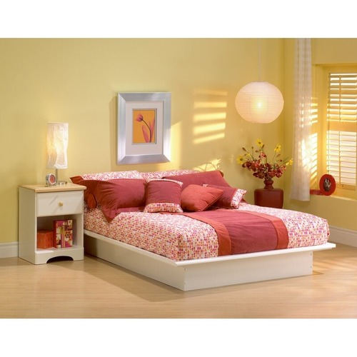 Used South Shore Furniture White Platform Bed for sale on AptDeco
