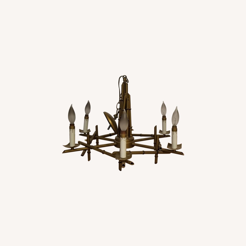 Gold Candlestick Chandelier - image-0