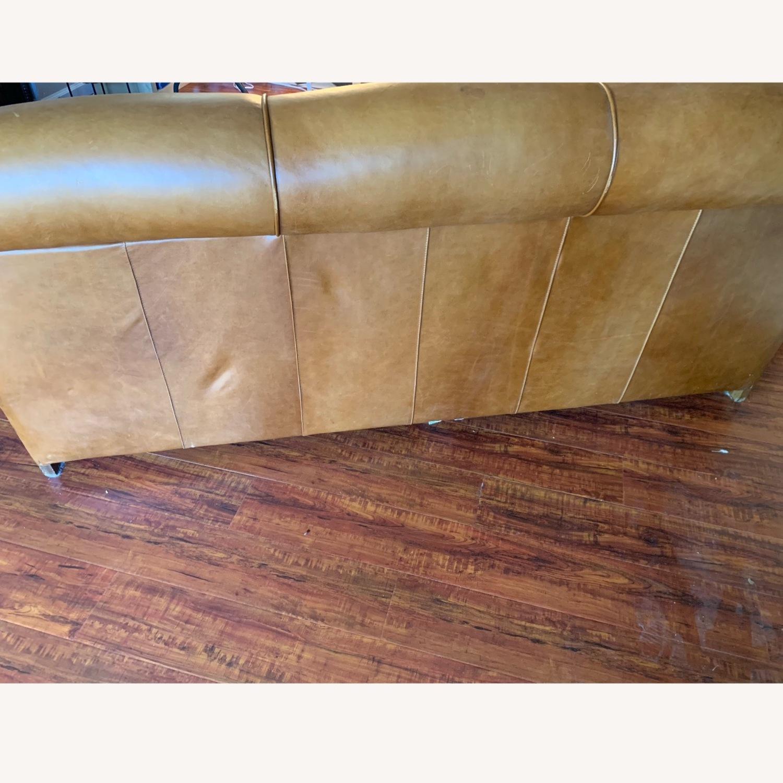 Manhattan Leather Sleeper Sofa from Pottery Barn - image-3