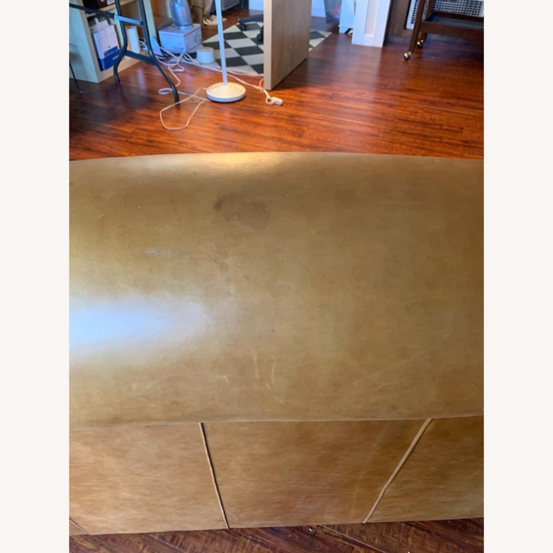 Manhattan Leather Sleeper Sofa from Pottery Barn - image-1