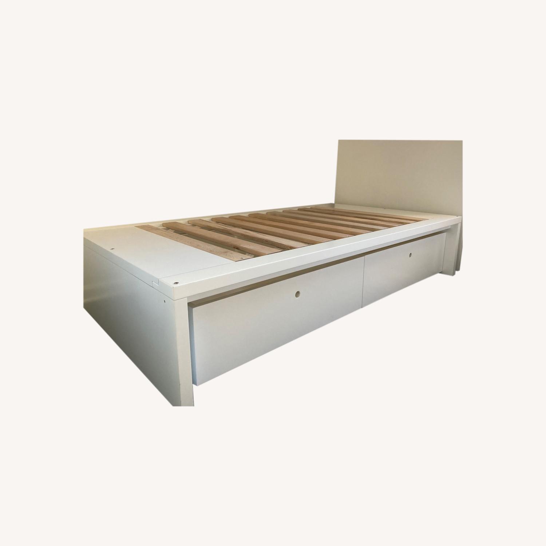 DucDuc Alex Symmetric Platform Twin Bed + Storage Drawers - image-0