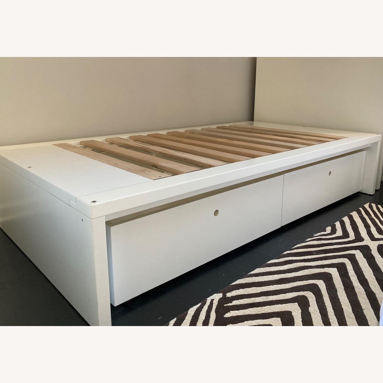 DucDuc Alex Symmetric Platform Twin Bed + Storage Drawers - image-1