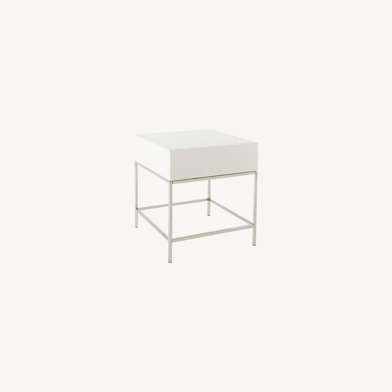West Elm Storage Side Table - image-0